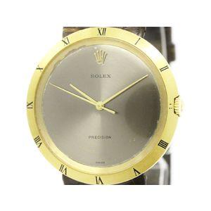 ROLEX ロレックス プレシジョン K18 ゴールド レザー 手巻き メンズ 時計