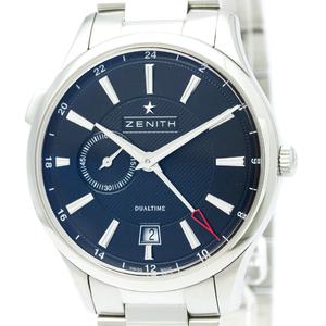 ZENITH ゼニス キャプテン デュアルタイム ステンレススチール 自動巻き メンズ 時計