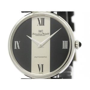 IWC Schaffhausen Steel Leather Automatic Mens Watch -