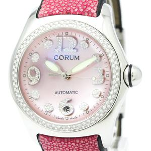 CORUM Bubble Diamond Steel Automatic Mens Watch 082.157.47