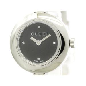 GUCCI グッチ Gサークル 105 ダイヤモンド ステンレススチール クォーツ レディース 時計