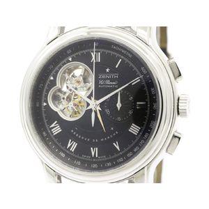 ZENITH ゼニス エルプリメロ クロノマスター XXTオープン ステンレススチール レザー 自動巻き メンズ 時計