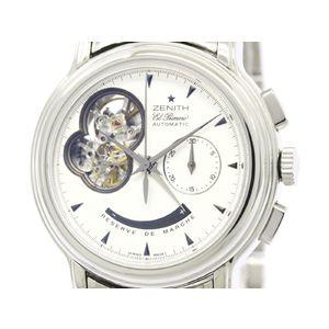 ZENITH ゼニス クロノマスター Tオープン エルプリメロ ステンレススチール 自動巻き メンズ 時計