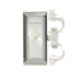 GUCCI グッチ Gフレーム 127.5 ステンレススチール クォーツ レディース 時計