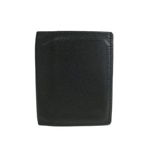 Auth Valextra Bifold Wallet Leather Black (BF305508)