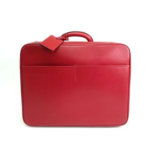 Auth Valextra Avietta 48 Soft Trunk/Luggage Leather Red (BF305565)