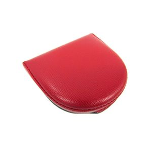 Auth Valextra Coin Case Leather Red (BF305615)