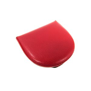 Auth Valextra Coin Case Leather Red (BF305614)