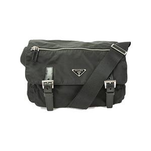 Auth Prada  Shoulder Bag TESSUTO Black Silver