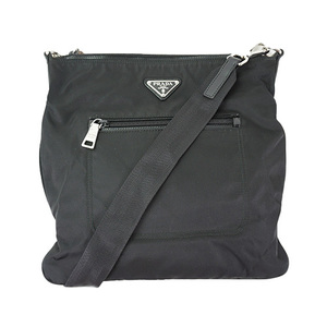 Auth Prada Shoulder Bag Nylon Black
