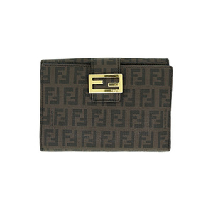 Auth Fendi Middle Wallet (bi-fold) 01141-2 Brown