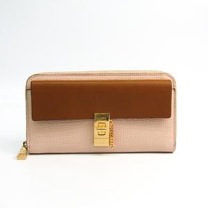 クロエ(Chloé) ドリュー 3P0780 レディース レザー 長財布(二つ折り) ライトブラウン,ベージュ