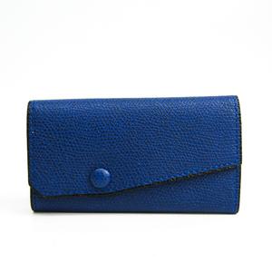 Valextra V1L76 Unisex Leather Key Case Royal Blue