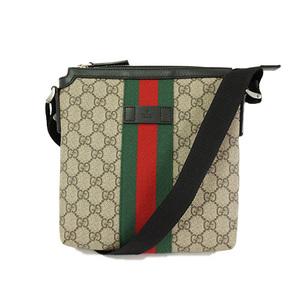 5e3bb883433b Auth Gucci GG Supreme Shoulder Bag Beige 471454