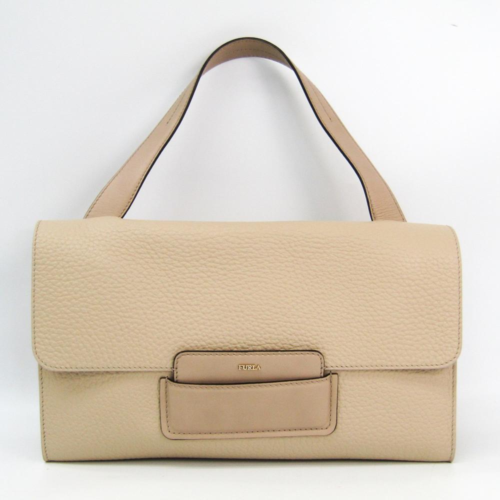 Furla Maia 869616 Women's Leather Handbag Beige