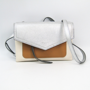 ジバンシィ(Givenchy) デュエット BB500VB01C レディース レザー ショルダーバッグ ベージュ,シルバー