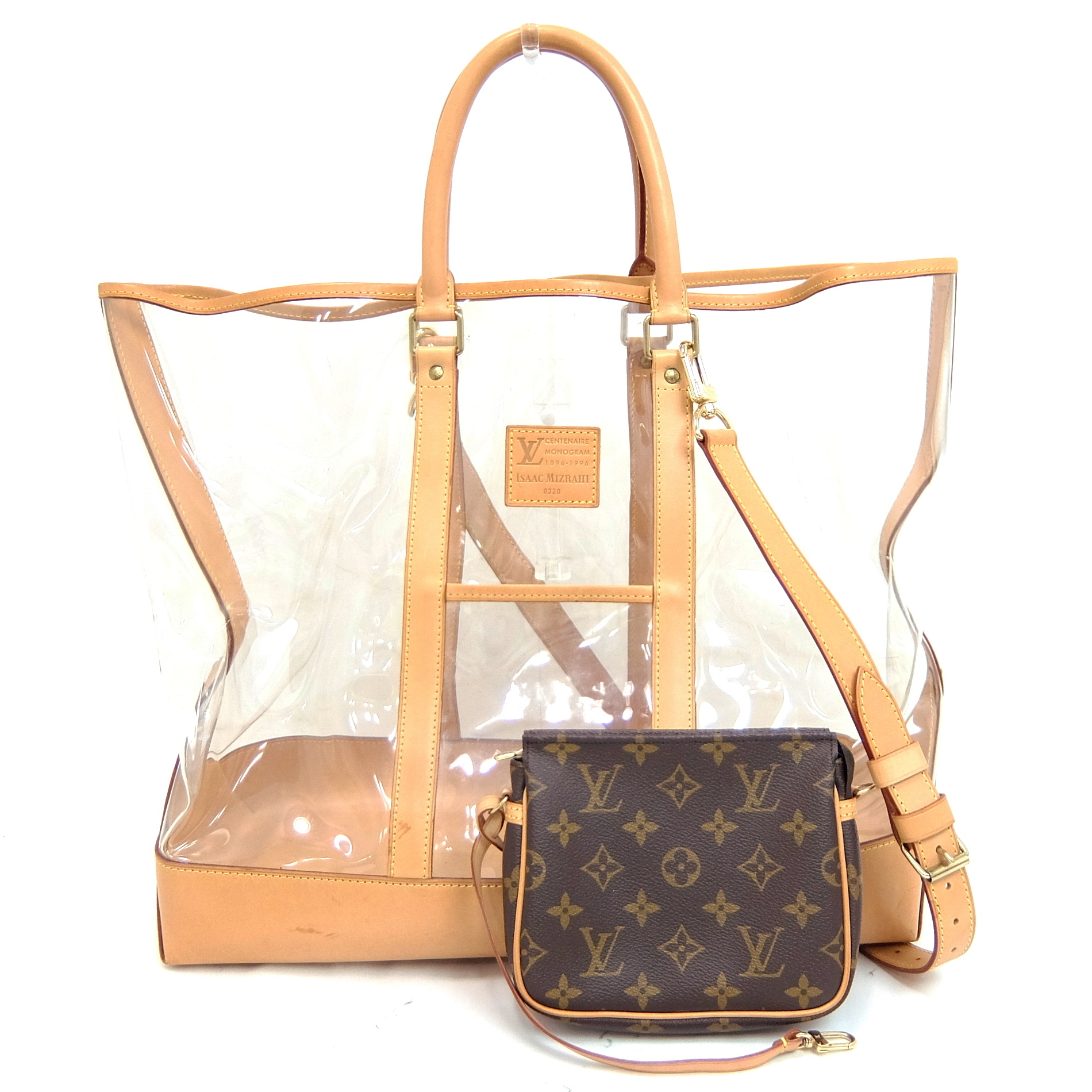 f15ed81a165 Auth Louis Vuitton Monogram Vinyl Isaac Mizrahi Centenaire Sac Weekend Tote  Bag