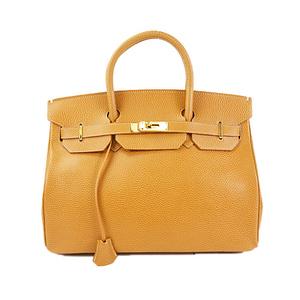 ハイクラス/High-Class/バーキンタイプハンドバッグ/birkin type Handbag ライトブラウン 【中古】