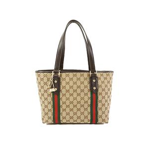 Auth Gucci Tote Bag GG Canvas 137396 Beige