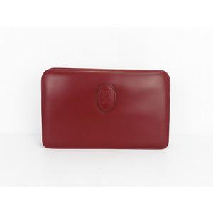 カルティエ(Cartier) マスト レザー クラッチバッグ ワインレッド セカンドバッグ