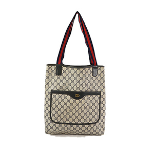 Auth Gucci GG Supreme Tote Bag 39-02-003 Navy