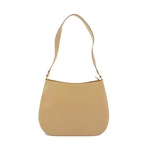 Auth Salvatore Ferragamo Shoulder Bag Gancini AQ-21 8162 Leather Beige