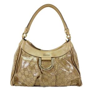 Auth Gucci GG Crystal Shoulder Bag 190525 Beige
