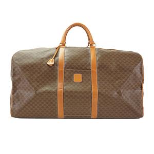 Auth Celine Boston Bag Macadam MC98/1 Unisex Brown