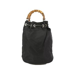 Auth Gucci Bamboo 2Way  Hand Bag Shoulder Bag Black Women's