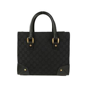 Auth Gucci Tote Bag GG Canvas 120895 Black