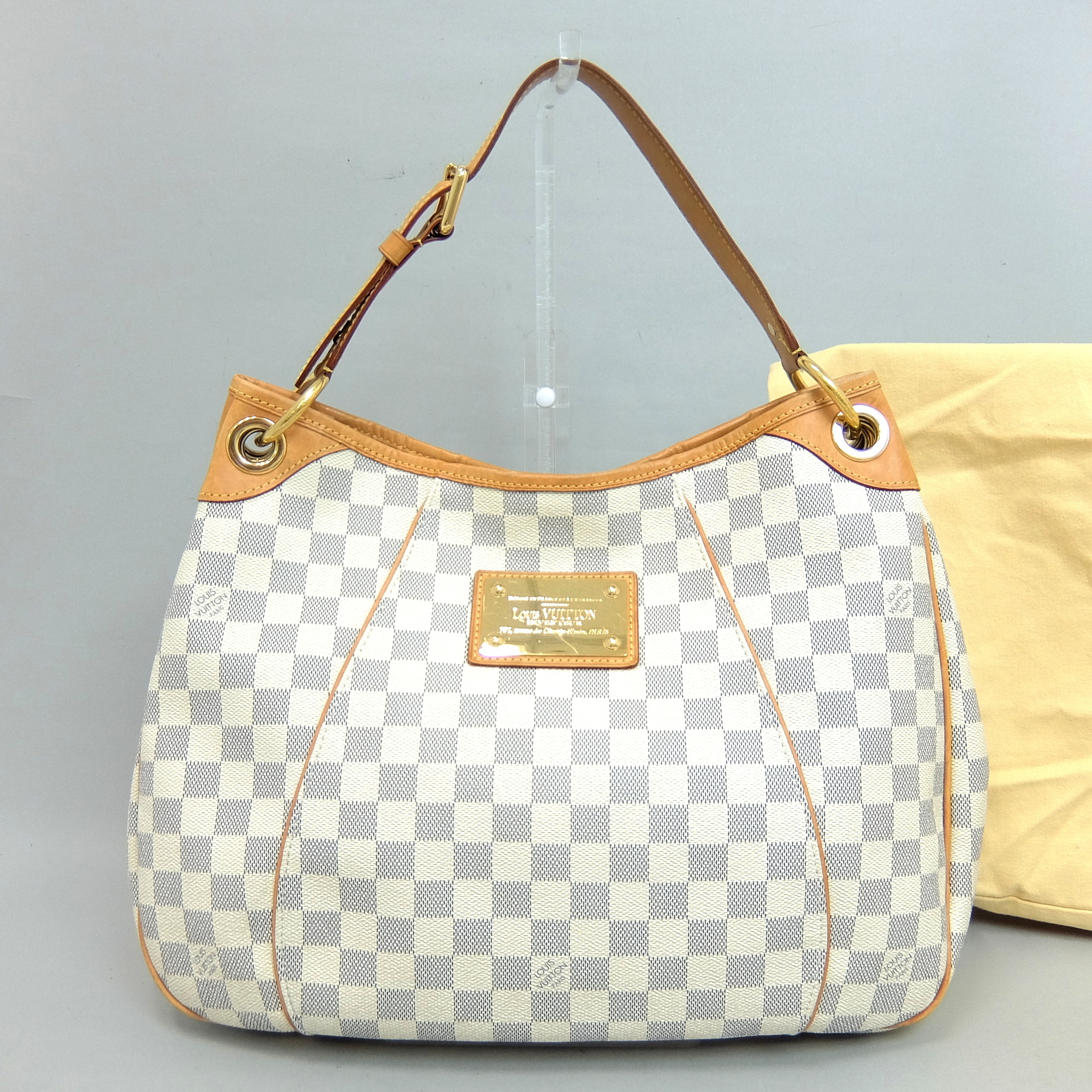 Auth Louis Vuitton Damier Azur Galliera PM Women s Handbag 00446ce7a9a1f