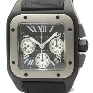 Cartier Santos 100 Automatic Stainless Steel,Titanium Men's Sports Watch W2020005