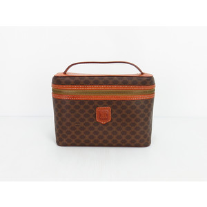 Celine Leather Handbag,Vanity Bag Brown