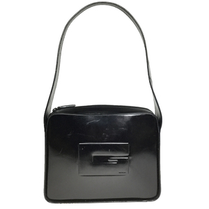 Gucci 001 3032 Leather Sholder Bag Black