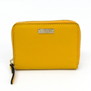 Kate Spade Women's Leather Coin Purse/coin Case Yellow