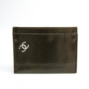 シャネル(Chanel) A36499 パテントレザー カードケース カーキ