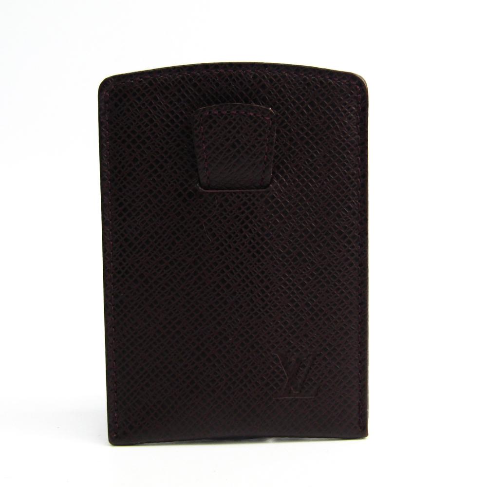 ルイ・ヴィトン(Louis Vuitton) タイガ エテュイ カルト・デ・ヴィジット ティレット M30546 レザー カードケース アカジュー