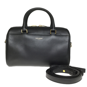 Saint Laurent Baby duffle 330958 Leather Handbag SholderBag Black