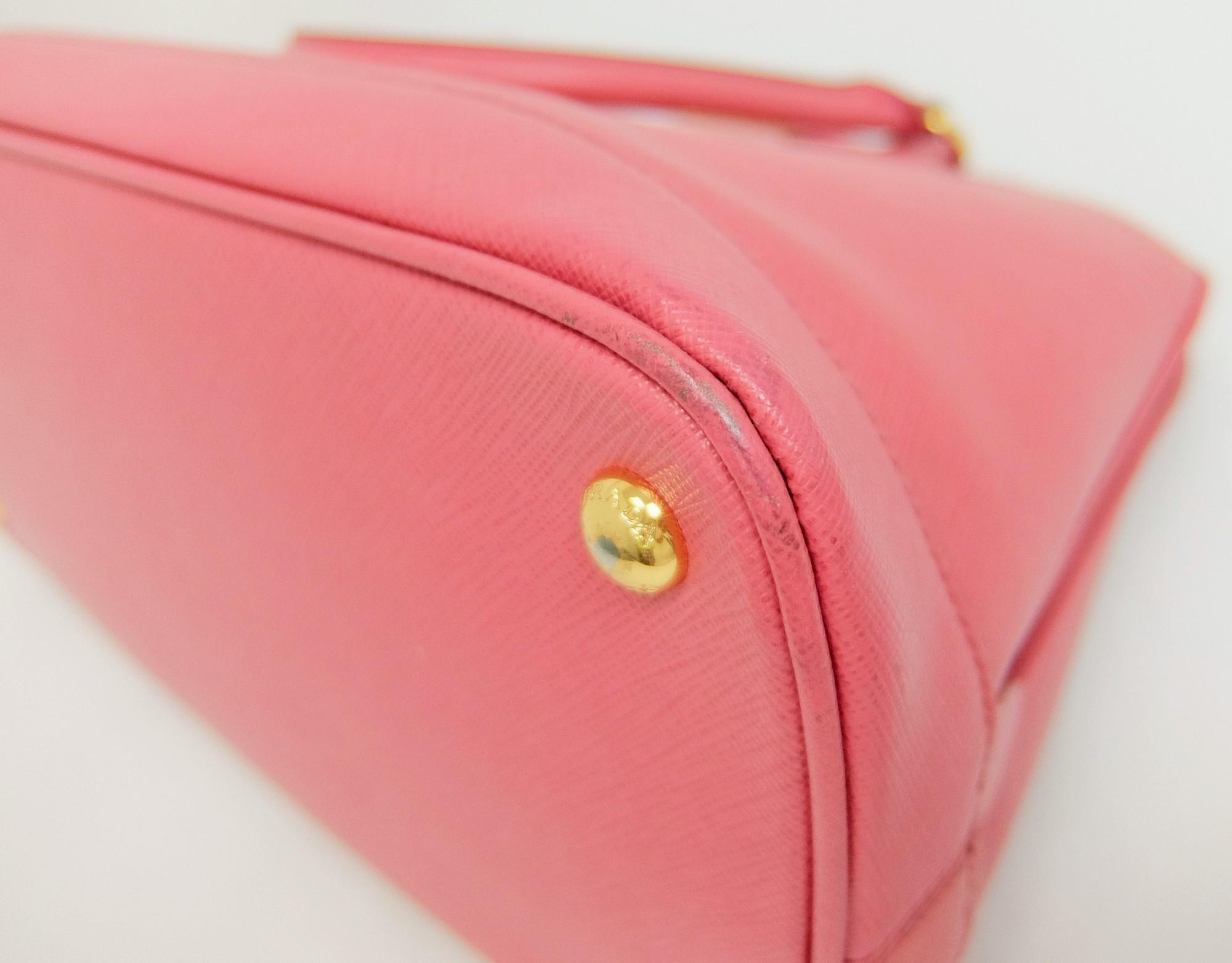 0e8a9397be62f7 Auth Prada Saffiano 2 Way Women's Leather Handbag,Shoulder Bag Pink ...