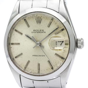 ROLEX Oyster Date Precision 6694 Steel Hand Winding Mens Watch