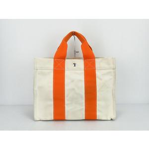 エルメス(Hermes) ボラ・ボラ コットンキャンバス ハ,ン オレンジ,ホワイト