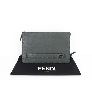 Fendi Selleria Leather C,l Gray