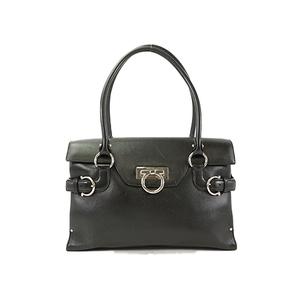 Auth Salvatore Ferragamo Hand Bag Gancini DY-21 4402