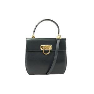 Auth Salvatore Ferragamo Hand Bag 2way Hand Bag Shoulder bag E21 4192
