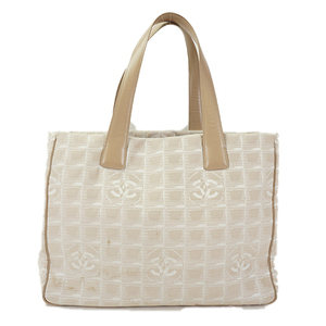 Auth Chanel Tote Bag New Travel Line A15991 Nylon Beige d89ba71ea3951