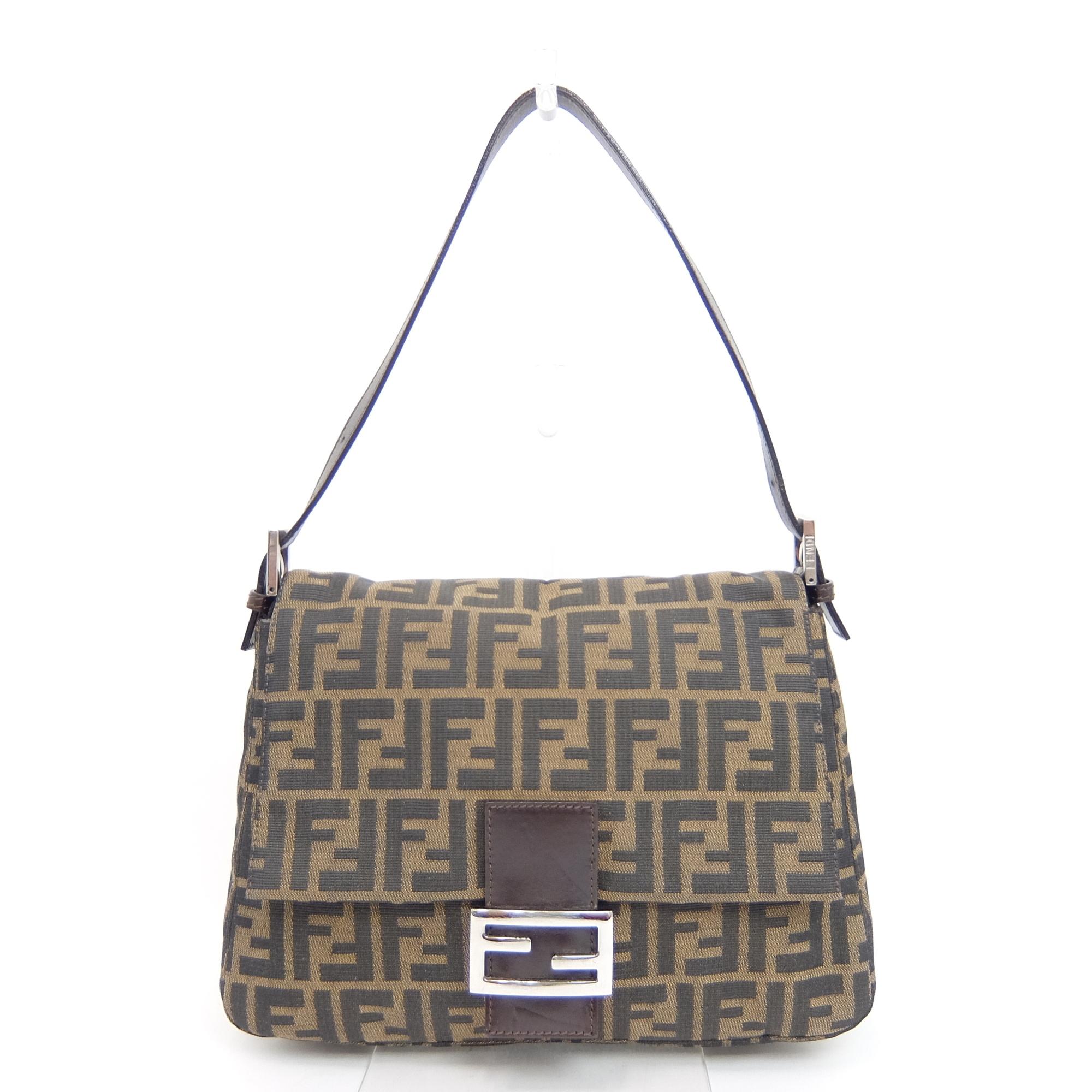 cb8e15c7dc60 Auth Fendi Baguette FF Logo Zucca Mamma Women  039 s Leather