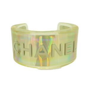 シャネル プラスチック クリスタル バングル ブレスレット