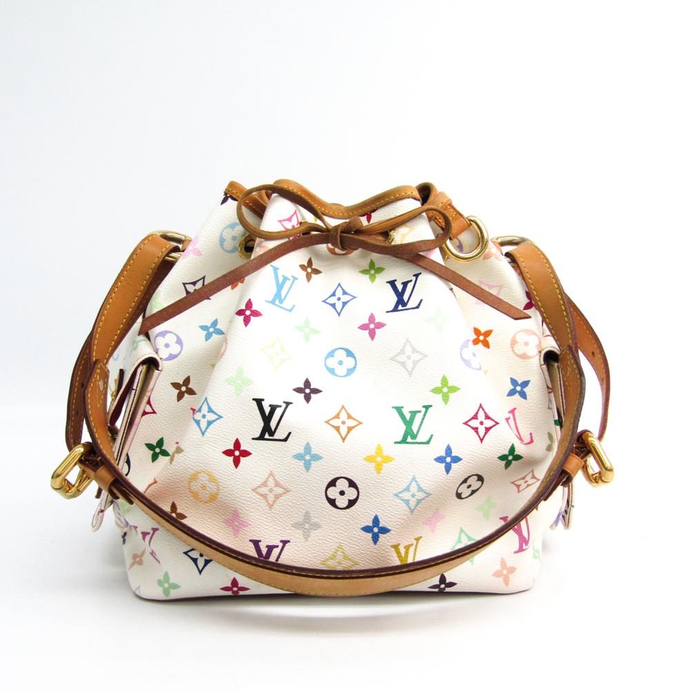 8ed608a47a9bf Louis Vuitton Monogram Multicolore Petit Noe M42229 Women s Shoulder Bag  Blanc