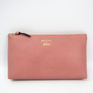 Gucci Gucci Swing 368881 Women's Leather Pouch Pink