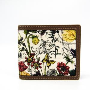 Gucci Mini Infinity Flora 237359 Women's Canvas,Leather Bill Wallet (bi-fold) Brown,Multi-color